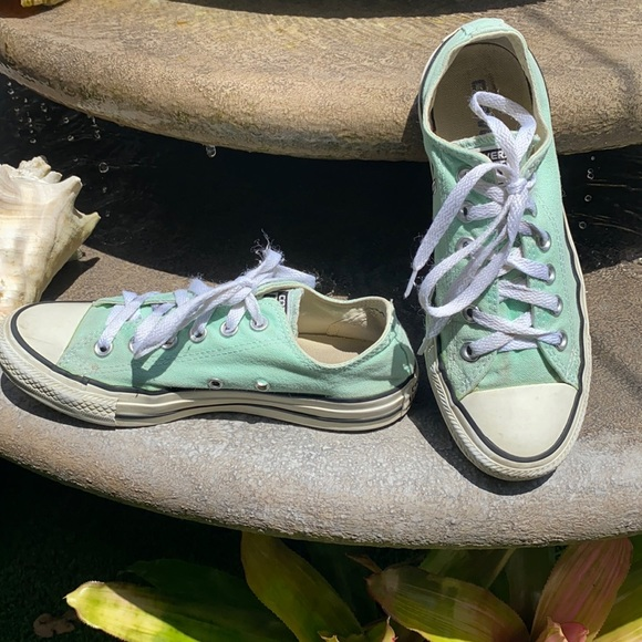 Converse all star low cut mint green sneaker